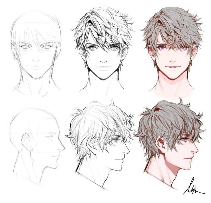 Chibi Hairstyles Anime In 2020 How To Draw Hair Chibi Hair Drawing Male Hair