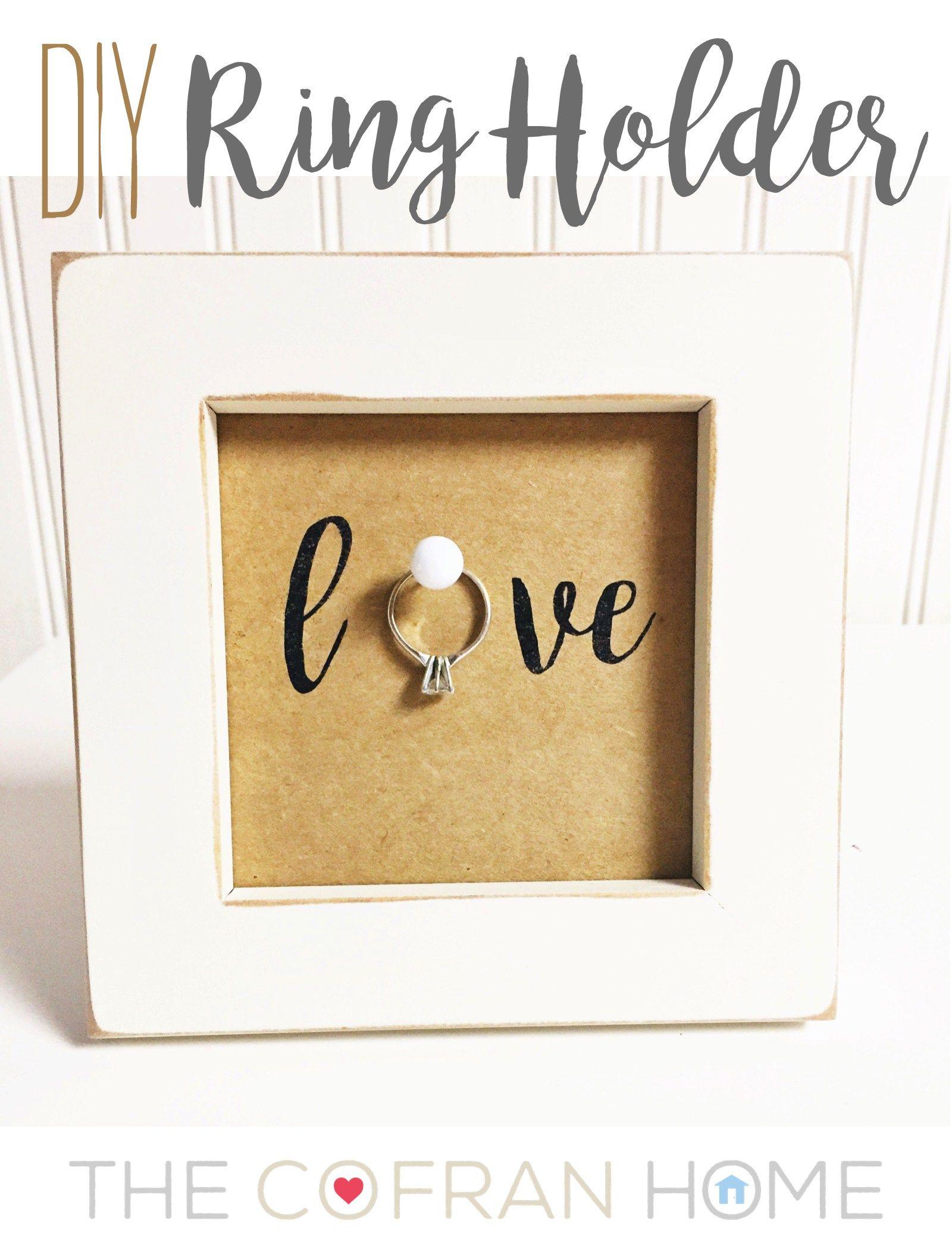 DIY Ring Holder Diy wedding gifts, Creative wedding