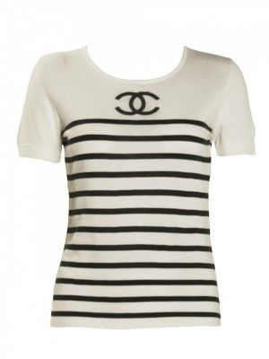 1980s Vintage Chanel Striped Top $290