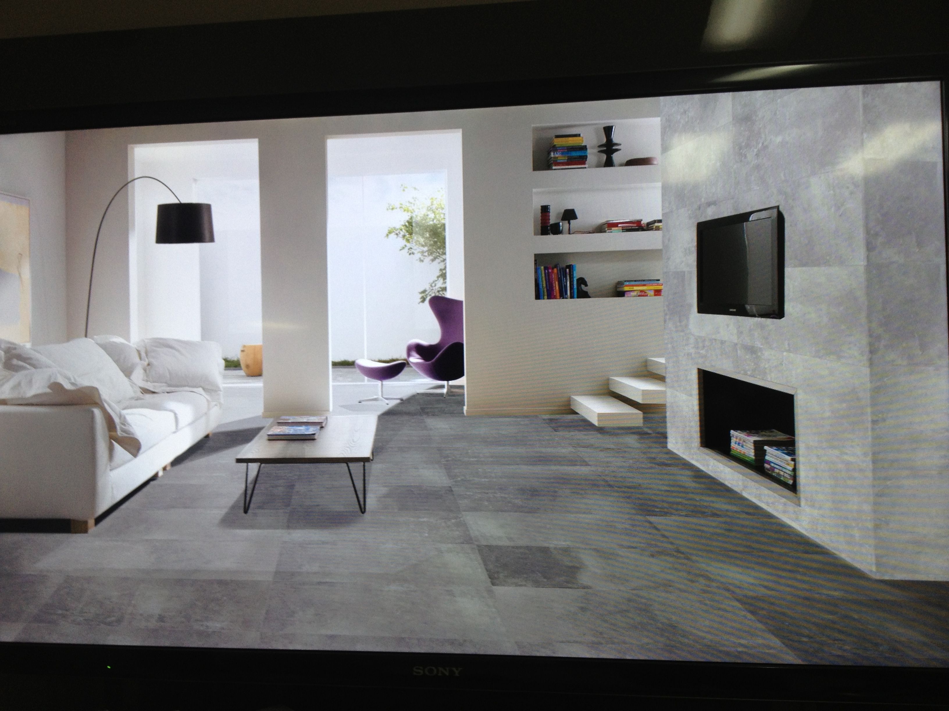 Concrete join lappato floor tile Beaumont tiles Concrete