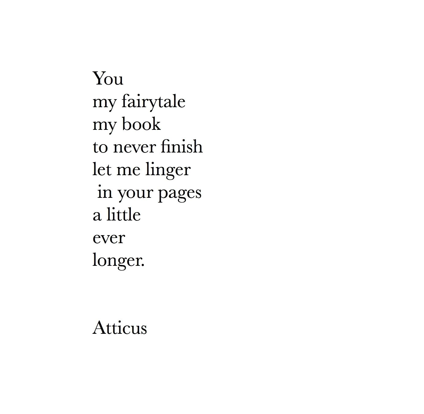My Fairytale Atticuspoetry Atticus Poetry Fairytale