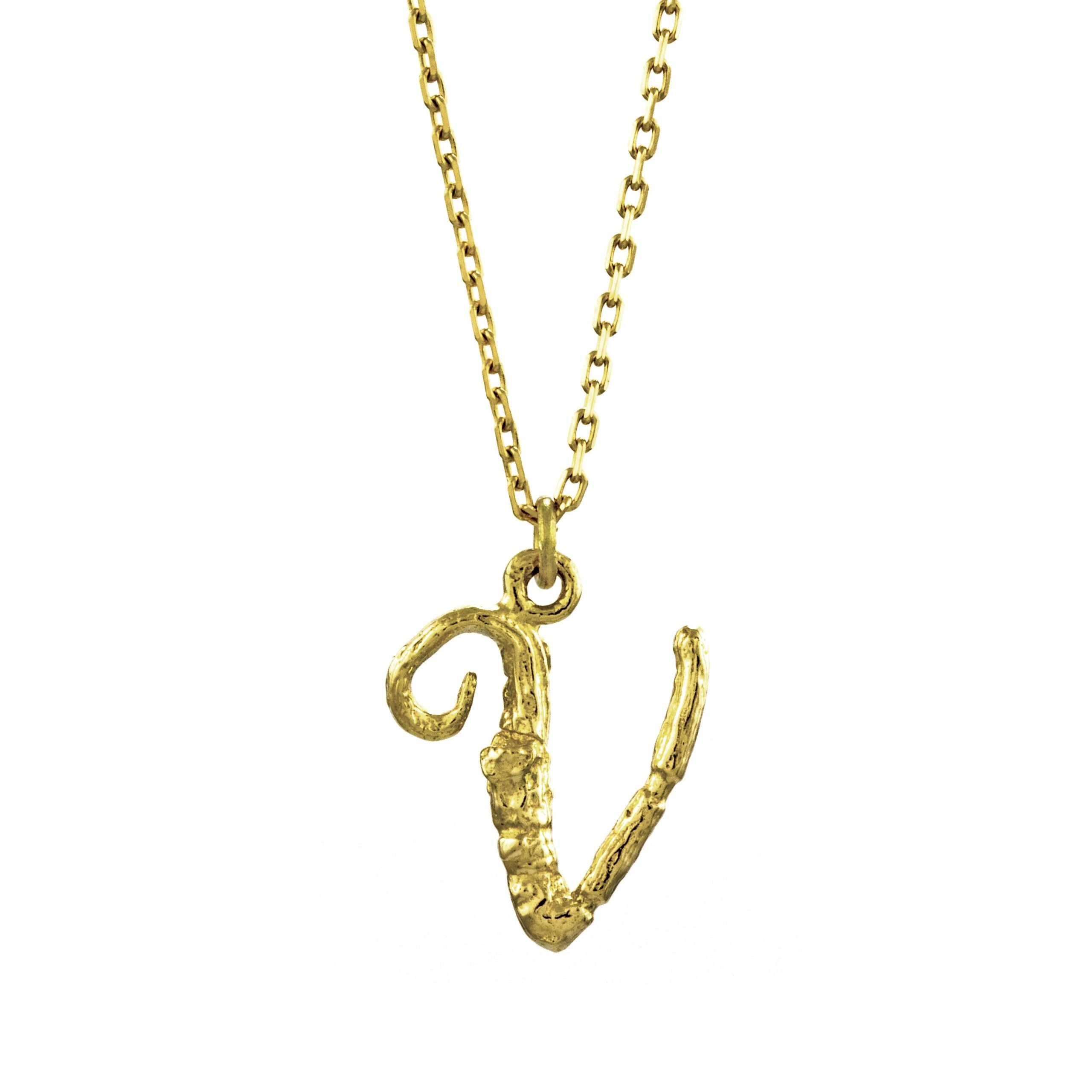 necklace alphabet letter gold enchanted m l twig