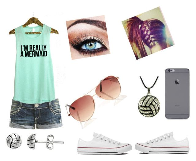 """Park"" by amerikiscornett ❤ liked on Polyvore featuring Wet Seal, Converse and Itsy Bitsy"