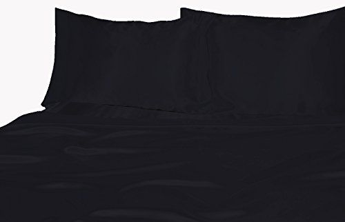 Sapphire Linens Satin Silk Sheet Set ( King , Black ) Looking bedroom remodel pictures? - http://aluxurybed.com/product/sapphire-linens-satin-silk-sheet-set-king-black/