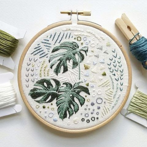 We just love this amazing #hoopart by @cathyeliot #craftspire #embroidery #needlecraft #sewing