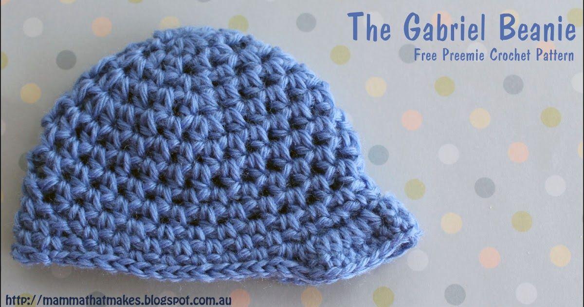 The Gabriel Beanie by MammaThatMakes.blogspot.com A free preemie ...