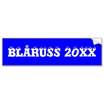 Blåruss bumper sticker for you russebil #russ #russen #blåruss #blå-russ-bumper-sticker blue-russ