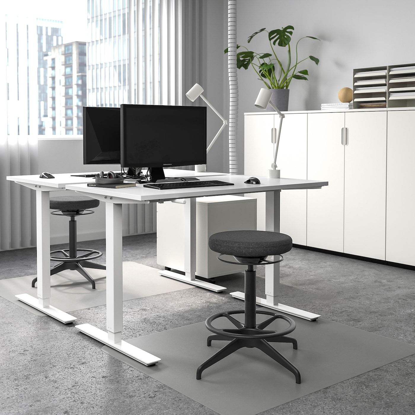 Skarsta Desk Sit Stand White Ikea In 2020 Ikea Standing Desk Sit Stand Desk Home Desk