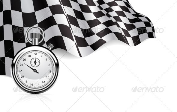 Checkered Flag With A Stopwatch Background Checkered Flag Stopwatch Checkered