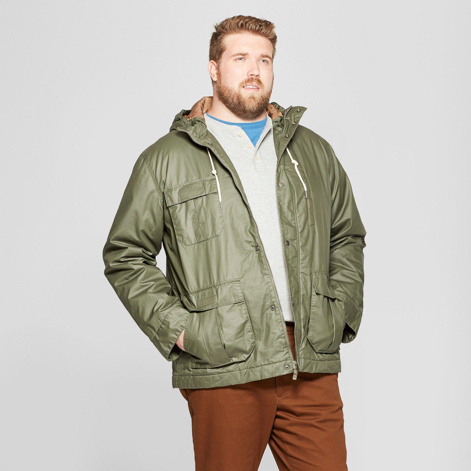 30821f4df petiteMen's Tall Short Base Parka Jacket - Goodfellow & Co Olive MT ...