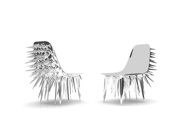 Beautiful Unique Gothic Chair In Porcupine Spikey Back Shape Have Heard About A Chair  With Threatening Look? This One Created By Ali Alavi Is One Of Them. The  Icicle Design Ideas
