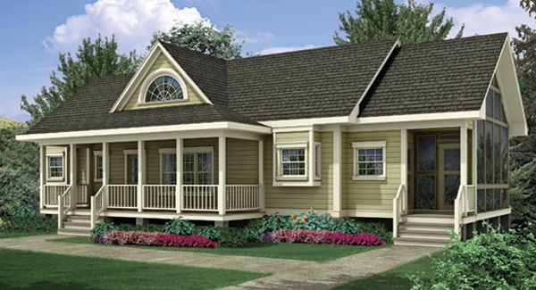 side screened in porch | Cabin! | Pinterest | Small house plans ...