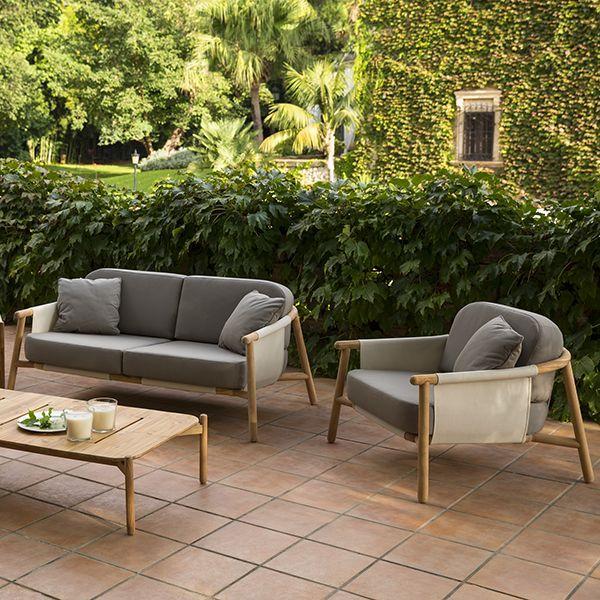 Lounge sofa outdoor teak  Point, Hamp, sofa, Outdoor, teak, Patio, Lounge, sofa ...