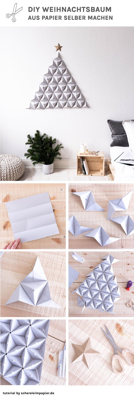 Der nadelt garantiert nicht: Origami Tannenbaum basteln