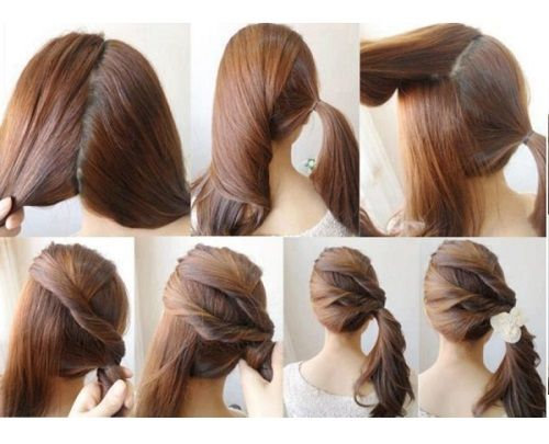 cute ponytails for shoulder length hair - Google Search | Hair ...