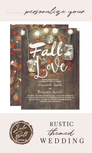 Fall in Love Rustic Engagement Party Invitation | Zazzle.com #dressesforengagementparty