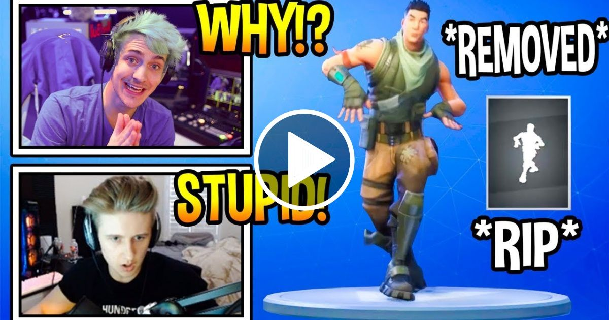 Streamers React To Default Dance Removed From Fortnite Rip