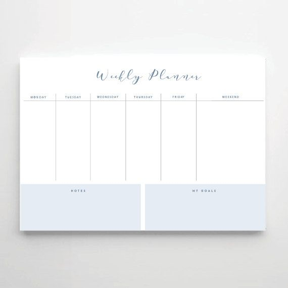 Printable Weekly planner, A4 size Weekly planner, Weekly Planners