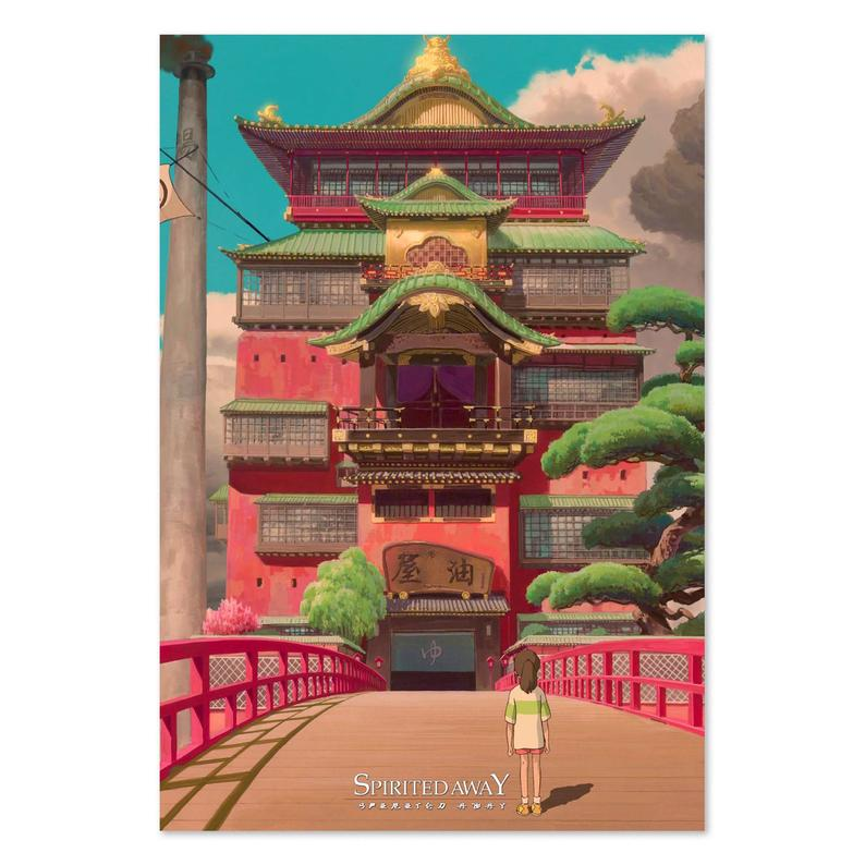 Spirited Away Poster Bath House Art High Quality Prints In 2020 Studio Ghibli Studio Ghibli Movies Studio Ghibli Art