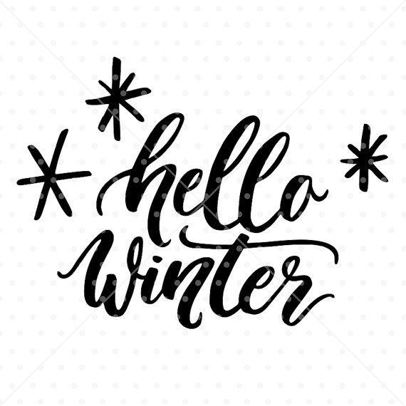 Christmas SVG File, Christmas Clipart, Hello Winter