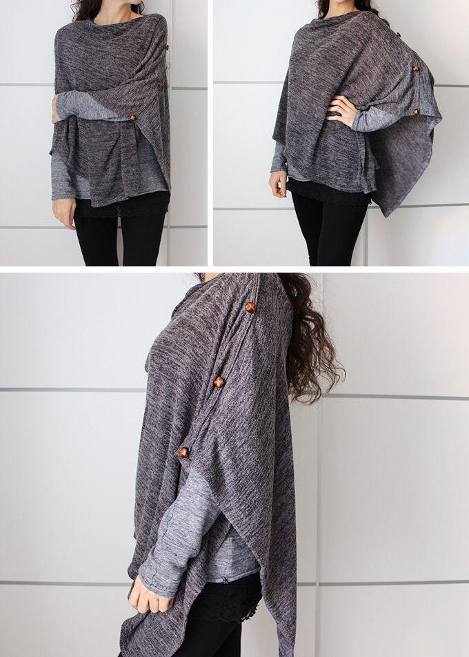 diy-poncho-manta-facil | sew | Pinterest | Ponchos, Costura y Ropa