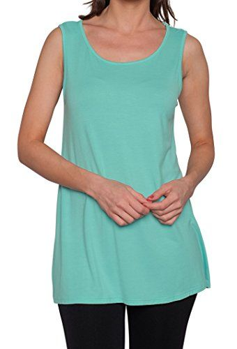 Free to Live Women's Long Flowy Short Sleeve or Sleeveless Tunic ...