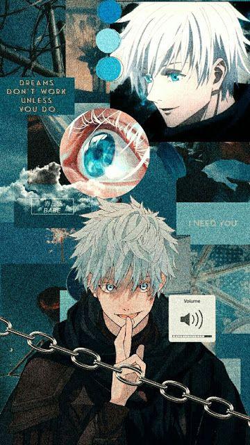 Papel de parede do Satoru Gojō | Wallpaper do Satoru Gojō do anime Jujutsu Kaisen