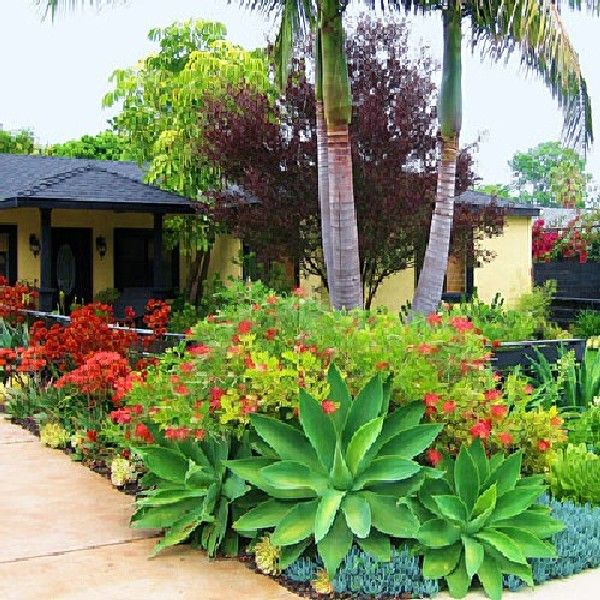 Tropical Home Garden Design Ideas: Beautiful And Refreshing Tropical Garden Landscapes : 40