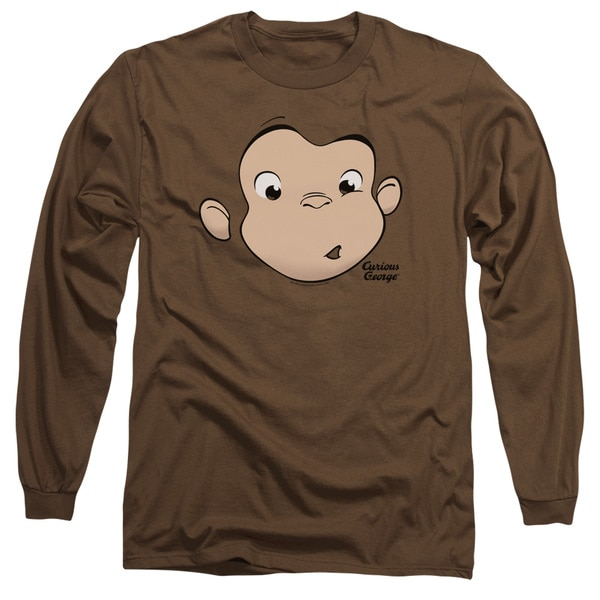 Curious George Big Face Logo Long Sleeve T-Shirt | Curious ...