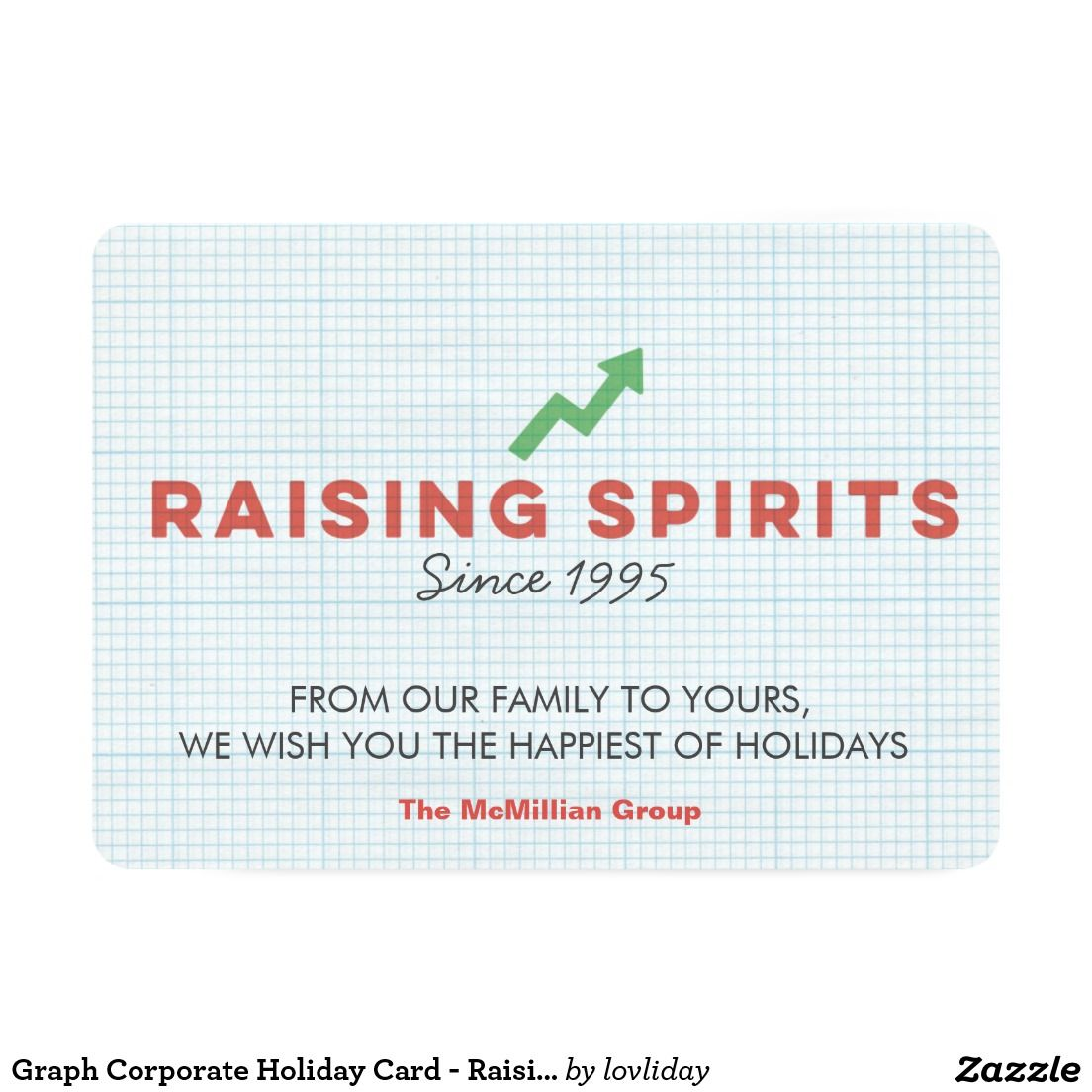 Graph Corporate Holiday Card - Raising Spirits | things i\'ve made ...