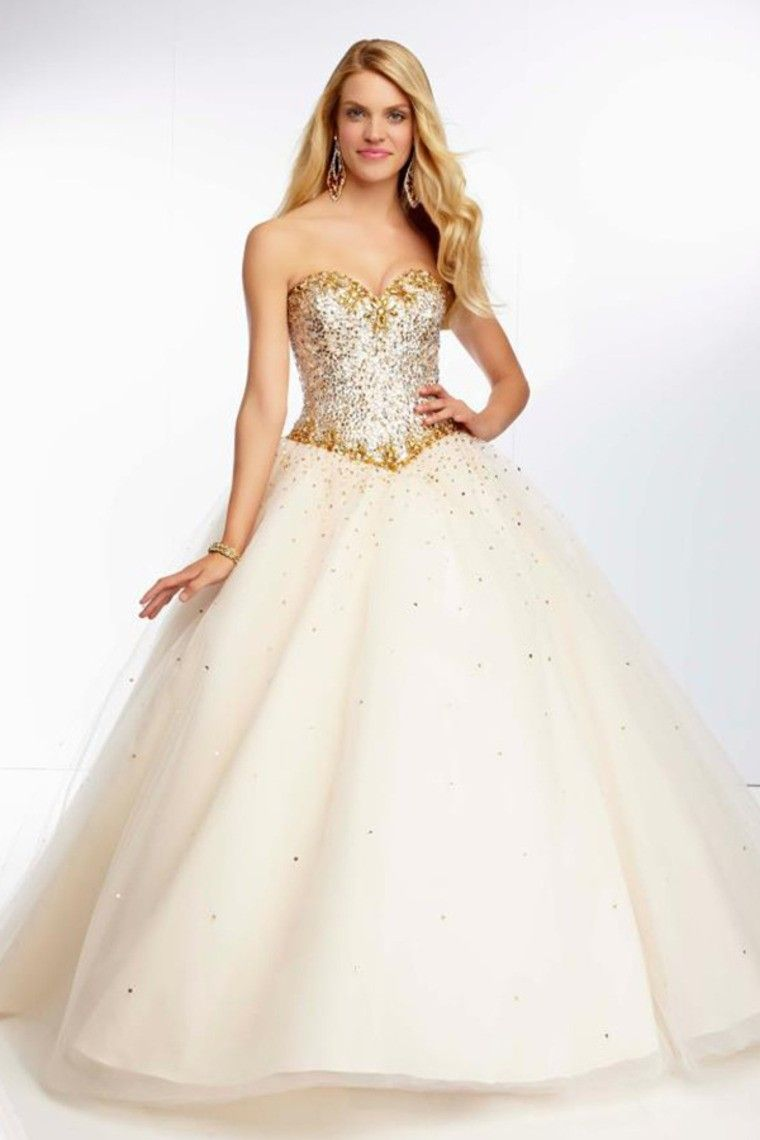 e8a966e65b60 Ivory Floor-Length Sweetheart Organza Lace-up Ball Gown Dress DWD3050 -