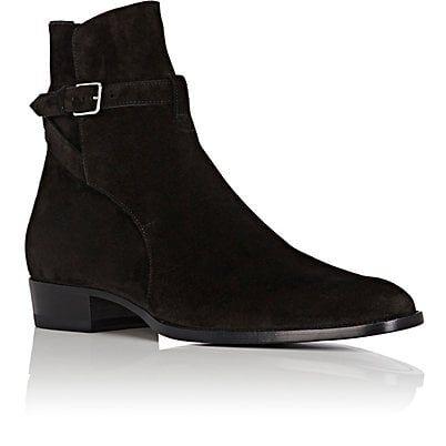 Haider Ackermann Black Suede Jodhpur Wyatt Boots