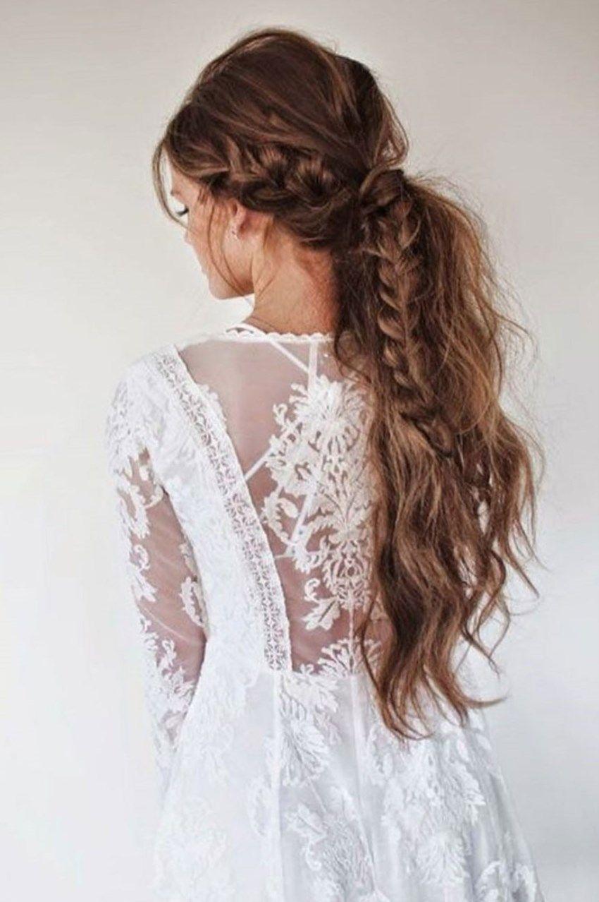Peinados recogidos con trenzas flojas