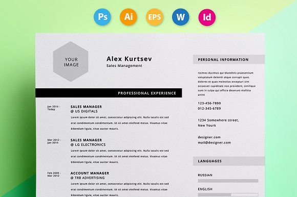 A Beautiful And Functional Photoshop Resume Template That Helps