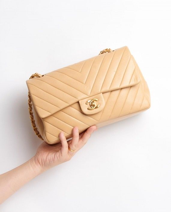 Vintage Chanel Chevron Classic Flap Bag   bags   Pinterest ...