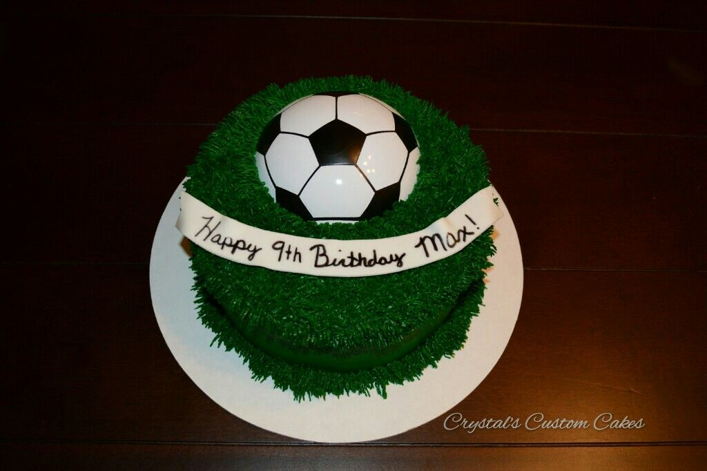 A Simple Soccer Cake Design Soccer Cake Cake Design Cake
