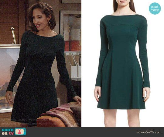 b66d90631f9 Lily s green long sleeved dress on The Young and the Restless. Outfit  Details  https