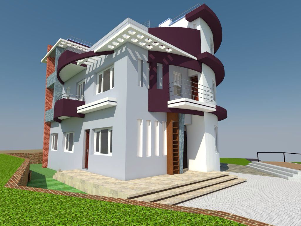 Proposed Building At Kathmandu Nepal Completed House