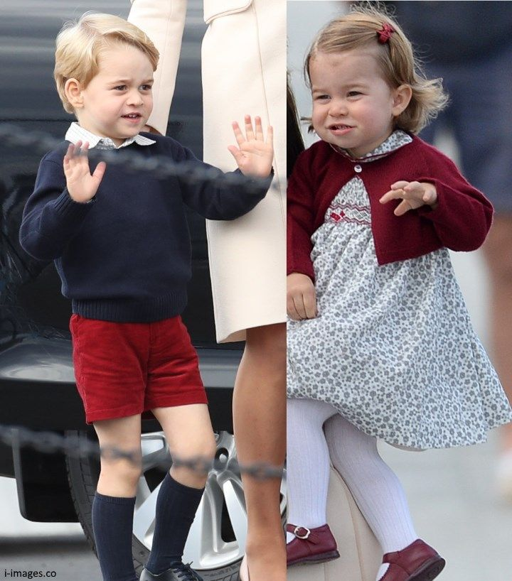 Photo (C) SPLASH NEWS~~ Prince George and Princess Charlotte Of Cambridge wave goodbye to CANADA 2016....