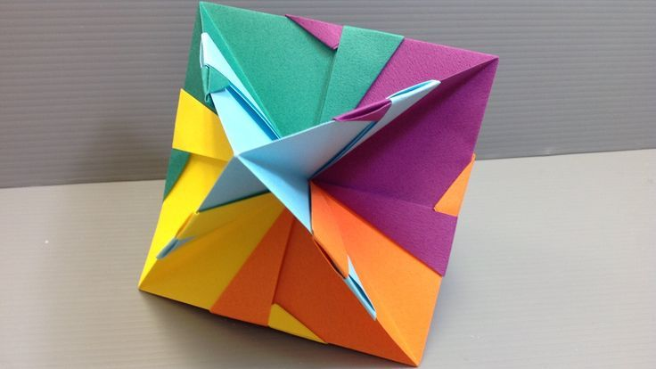 How to make a fairly quick and easy kusudama with six sheets of paper folded int How to make a fairly quick and easy kusudama with six sheets of paper folded int...