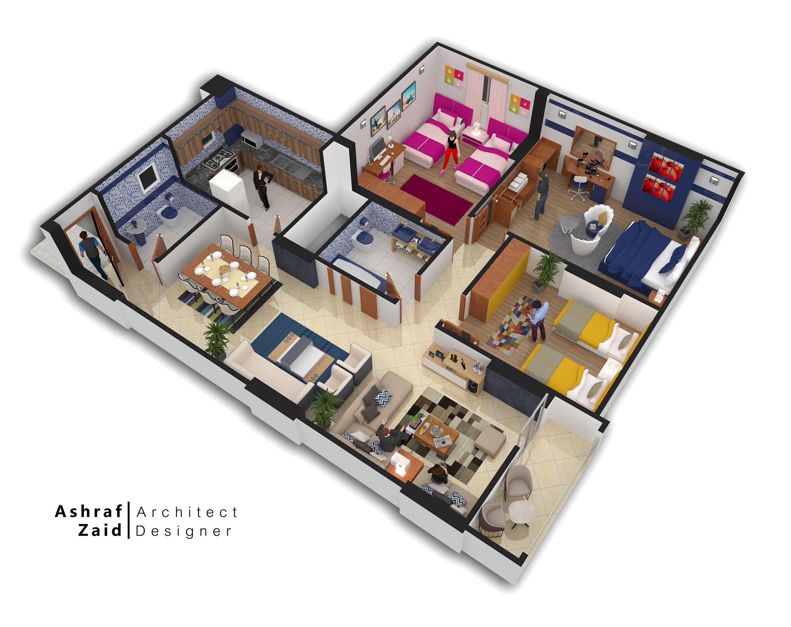 3d Plan Denah Rumah Desain Dekorasi Rumah