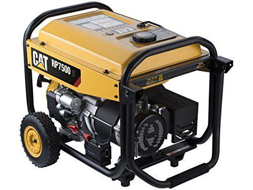 Cat Rp7500e Gas Powered Portable Generator With Electric Start 7500 Running Watts 9375 Starting Watts 490 6491 Portable Generator Best Portable Generator Portable Generators