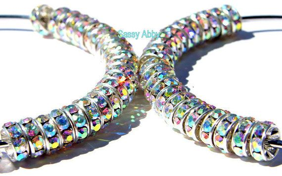Basketball Wives Earrings LARGE  Diamond Rainbow by sassyabby1, $30.00
