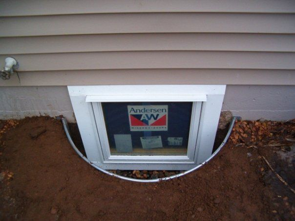 Awning Window In Poured Concrete Egress Window Window Awnings