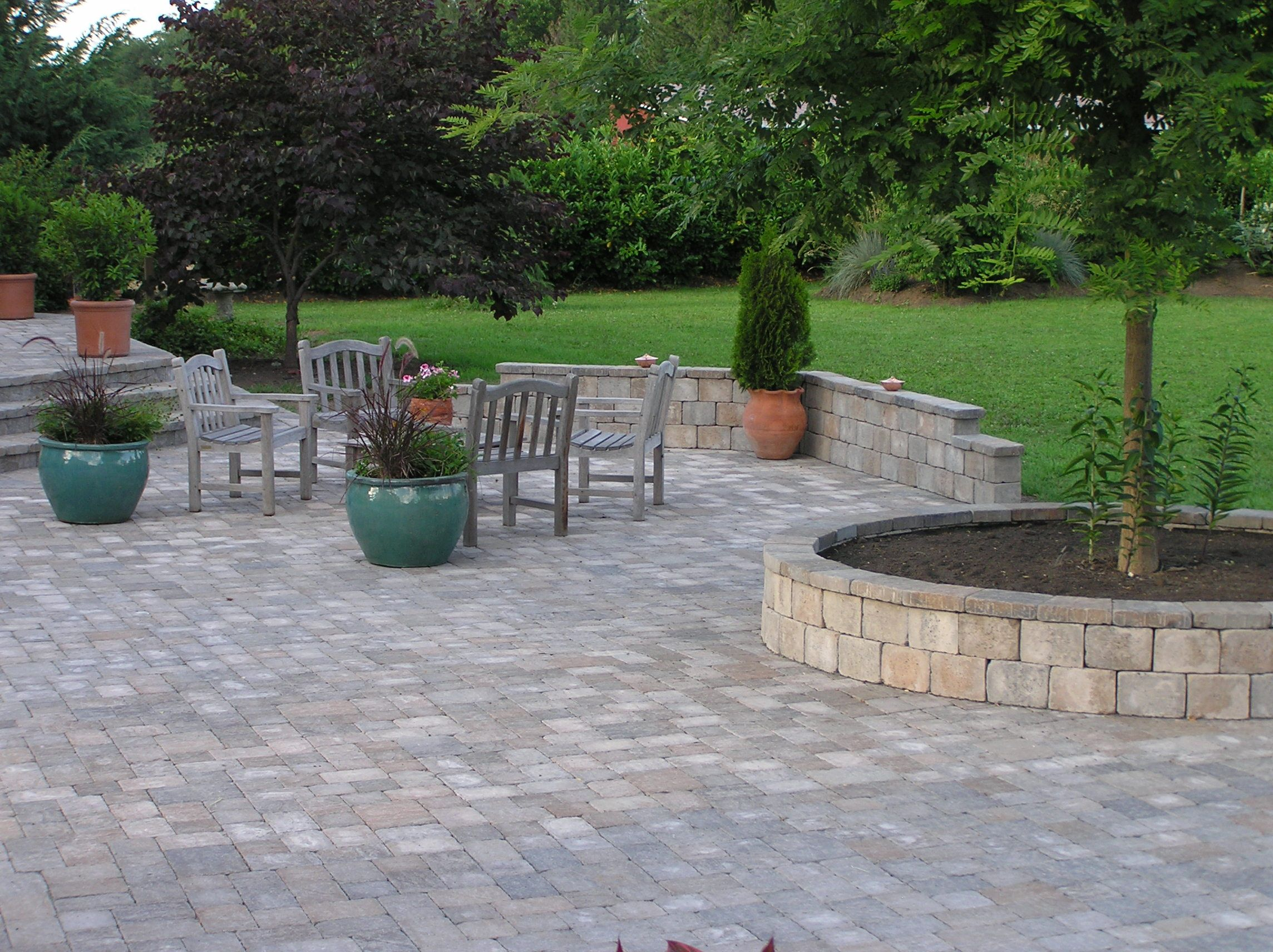 Patio U0026 Outdoor: Unique Brick Stone Paver Patterns Driveway For .