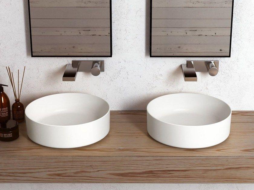 Ceramica Cielo Shui.Countertop Round Ceramic Washbasin Shui Comfort Round