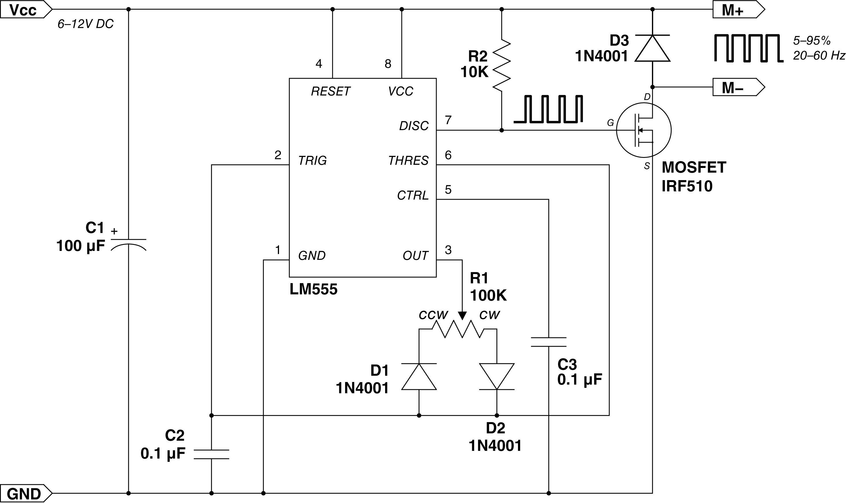 The Dial A Speed One Motor Controller To Rule Them All 0 12v Power Supply Circuit Diagram Shackcelerator Schematic 02 Dc Electronic Workbench Lathe Machine