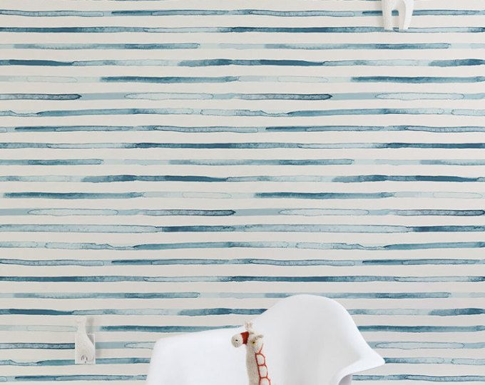Japanese waves removable wallpaper cute nursery wall