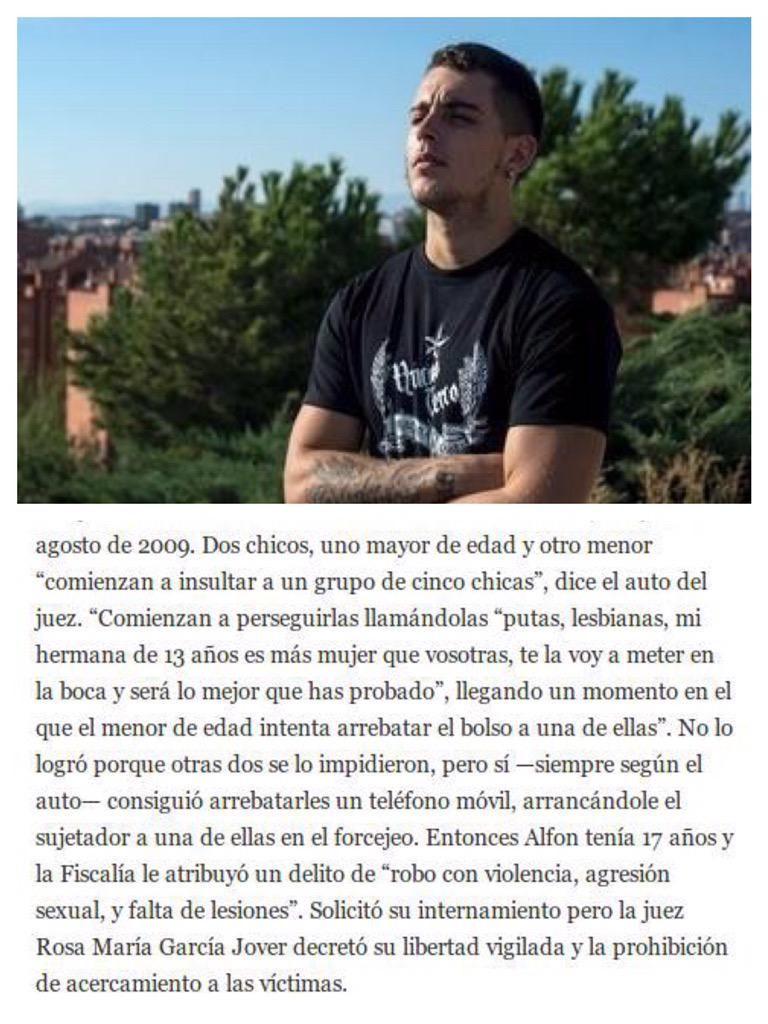 Este es Alfon al que defiende @Pablo_Iglesias_ y #Podemos.