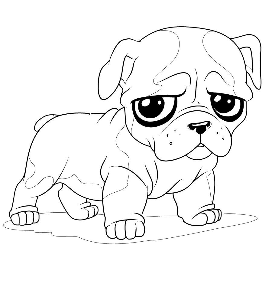 newborn puppy coloring pages to print cute coloring pages of baby puppies puppy bulldog - Cute Coloring Pics
